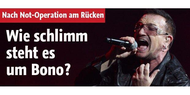 Bonos Rücken sorgt für Rätselraten