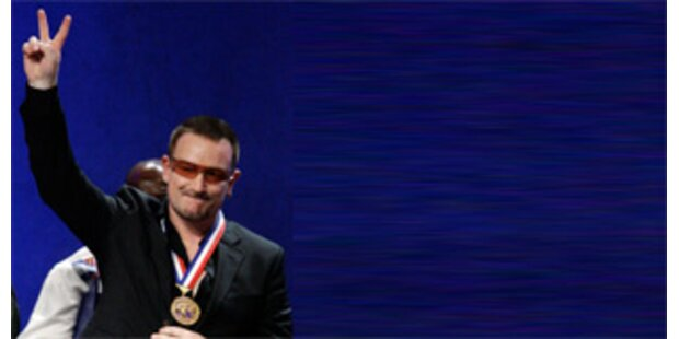Freiheitsmedaille für U2-Sänger Bono