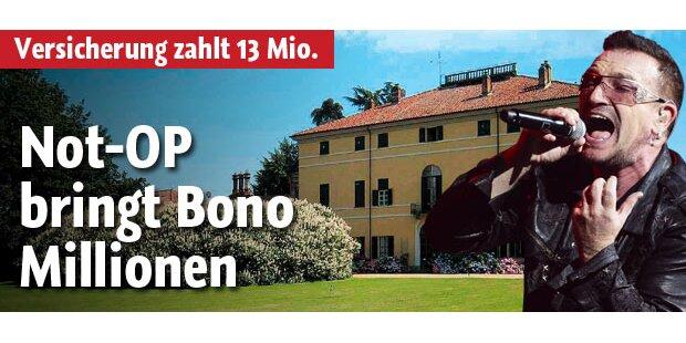 Not-OP bringt Bono Millionen