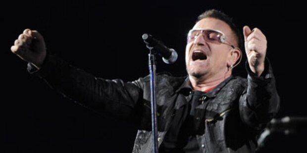 U2-Fans atmen auf: Bono wieder fit