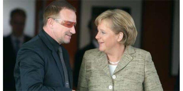 Rockstar Bono lobte Kanzlerin Merkel