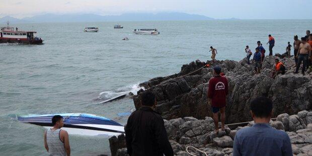 Drei Touristen starben bei Bootsunglück
