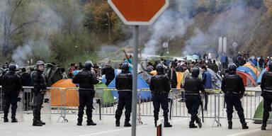 Eskalation an Balkan-Grenze: Schuss auf Flüchtling
