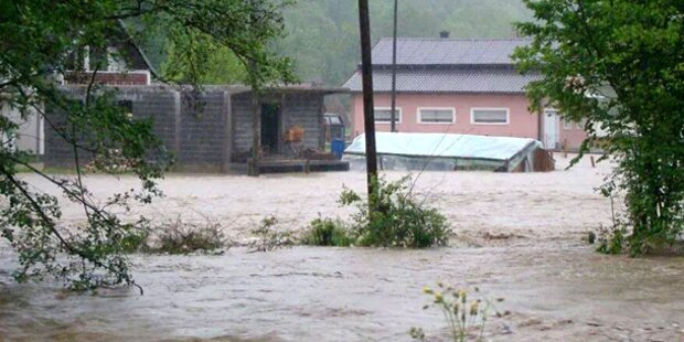 Hochwasser auch in Bosnien