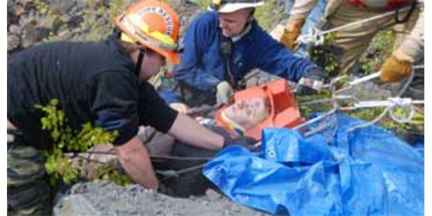 US-Bürger überlebte 150m-Sturz in Bergwerksschacht