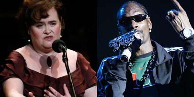 Susan Boyle singt Duett mit Rüpel-Rapper