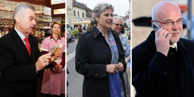Bundespräsident: Kandidaten im Endspurt