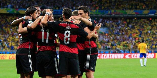 Deutschland zieht mit einem 7:1 gegen Brasilien ins Finale!