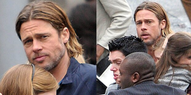 Brad Pitt rettet Frau aus Massenpanik