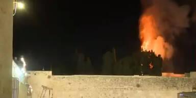 Großbrand auf Tempelberg in Jerusalem