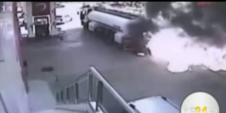 Türkischer Held verhindert Explosion