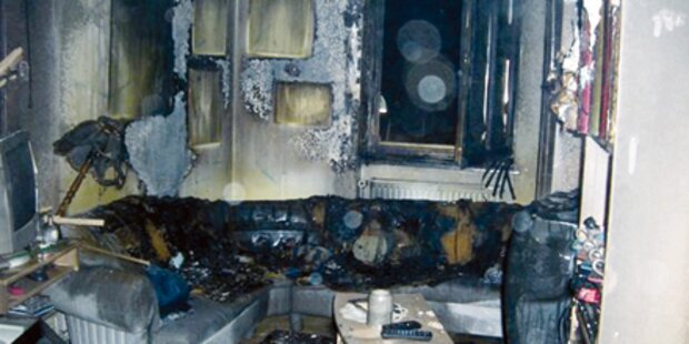 Asthmakranke Frau bei Brand verletzt