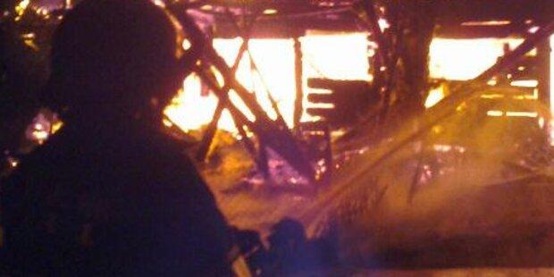 Großbrand auf Bauernhof im Pinzgau
