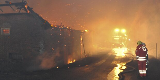 Hoher Schaden bei Brand in Vierkanthof