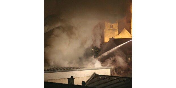 Großbrand im BORG wegen technischen Defektes