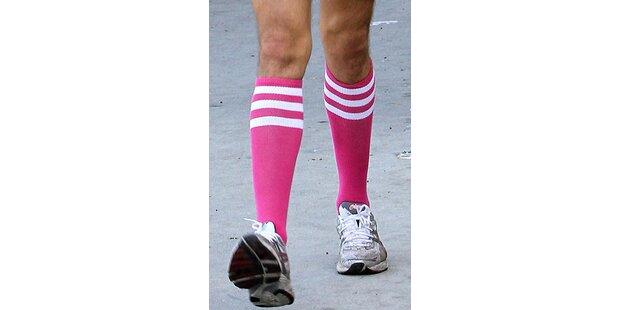 Welcher Star trägt solche Socken?