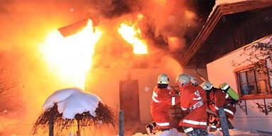 Brand St. Martin bei Lofer Feuerwehr