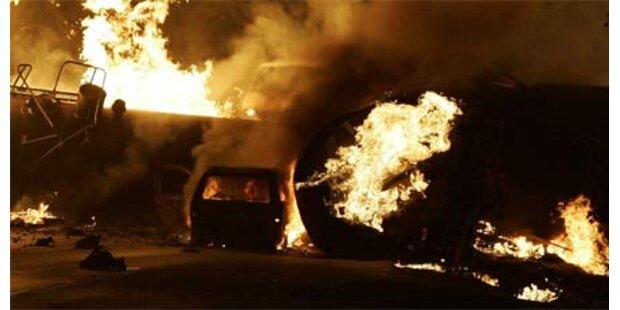 Güterzug mit Ethanol-Ladung explodiert