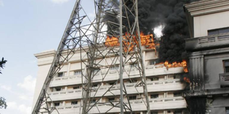 Gebäude des Innenministeriums brannte