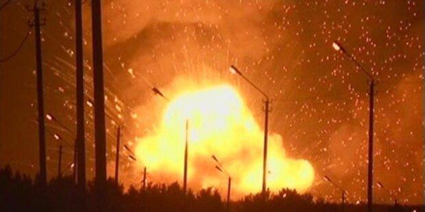 Russland: Großbrand in Munitionsdepot