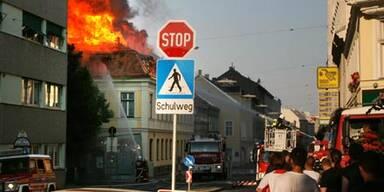 Flammen-Inferno mitten in Wien