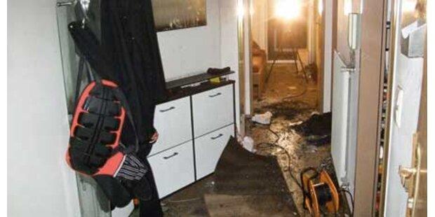 Einbrecher setzt Wohnung in Brand