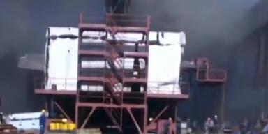 Russisches Atom U-Boot in Brand geraten