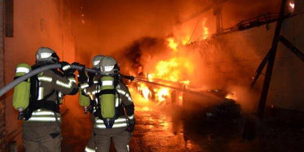 Brand beim Speditionsunternehmen Wildenhofer
