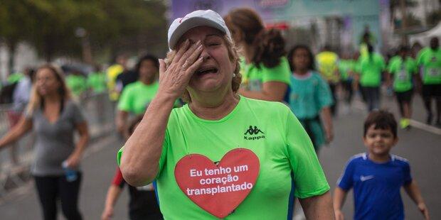 Brasilianerin mit neuem Herz läuft Straßenrennen