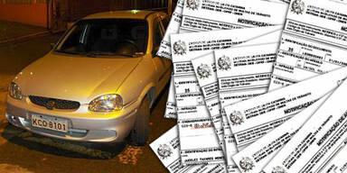 Brasilianer sammelte 1,3 Millionen Euro an Strafzetteln
