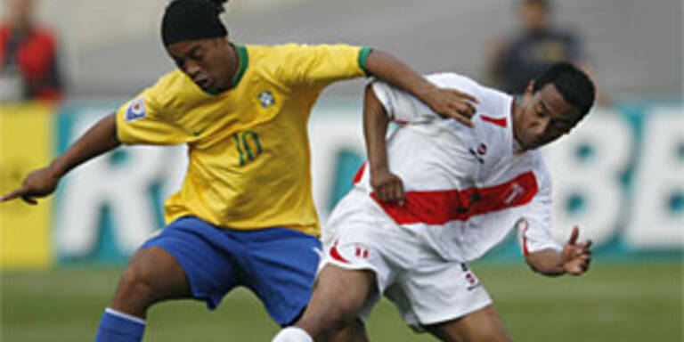 Brasilien in Peru nur 1:1