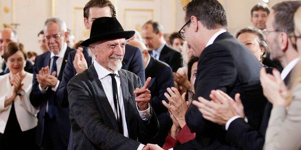 Arik Brauer: Handschlag mit Strache