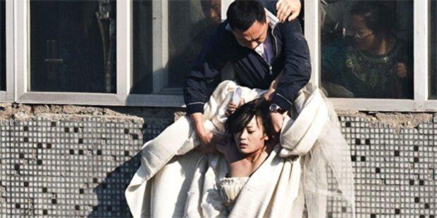 Braut will sich aus dem Fenster stürzen