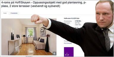 Breiviks Wohnung steht zum Verkauf