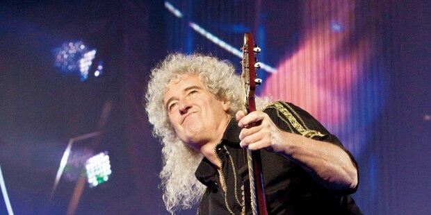 Queen-Legende May rockt an der Grenze