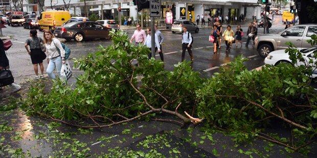 Schwerer Sturm wütete in Brisbane