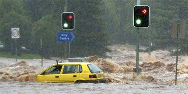 Flutwelle erreicht Millionenstadt Brisbane