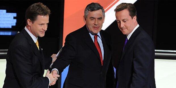 Kein Sieger bei 2. britischen TV-Debatte