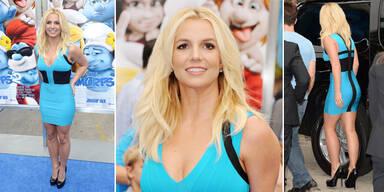 Britney Spears im Schlümpfe-Look