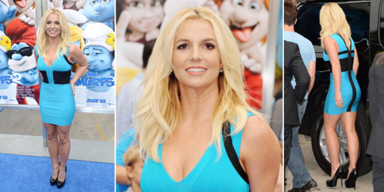 Britney Spears im Schlumpfine-Look
