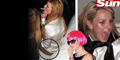 Mitten beim Feiern zog sich Britney die Hose aus und knotete sie sich um den Hals. (c) The Sun