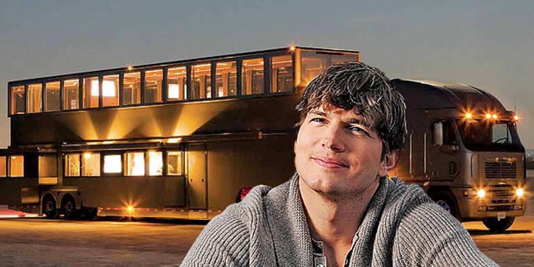 Kutcher zeigt seinen coolen Onkel-Bus