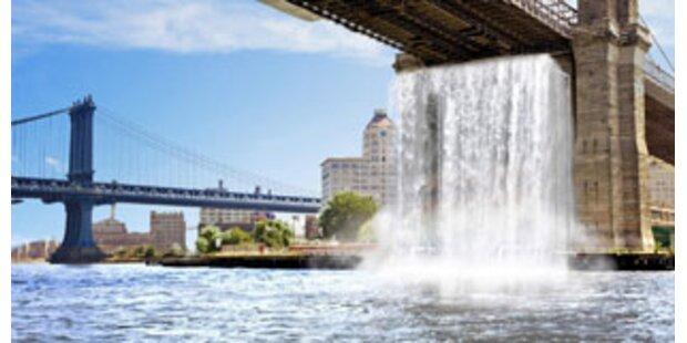 New York plant Mega-Wasserfall