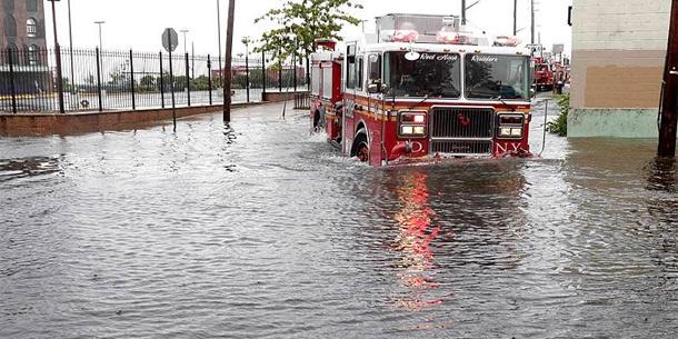 Überschwemmung in Brooklyn