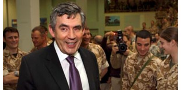 Premier Brown auf Überraschungsbesuch im Irak