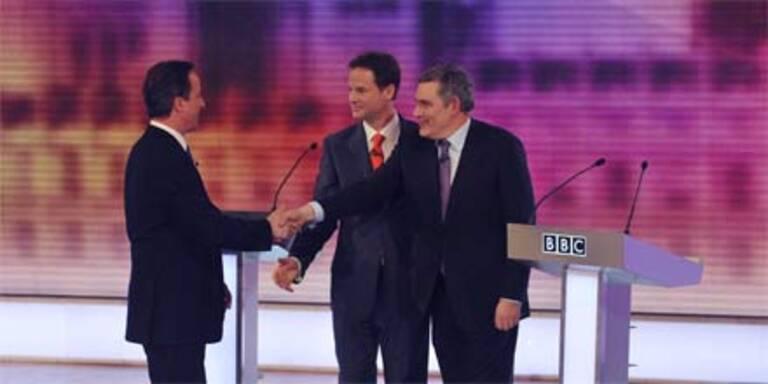 Brown verlor letzte Debatte vor der Wahl