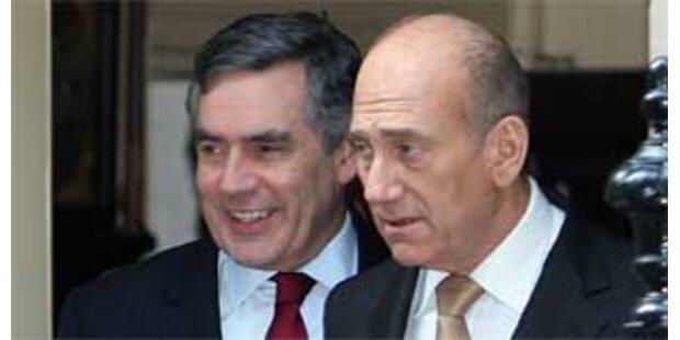 Brown und Olmert für Sanktionen gegen Iran
