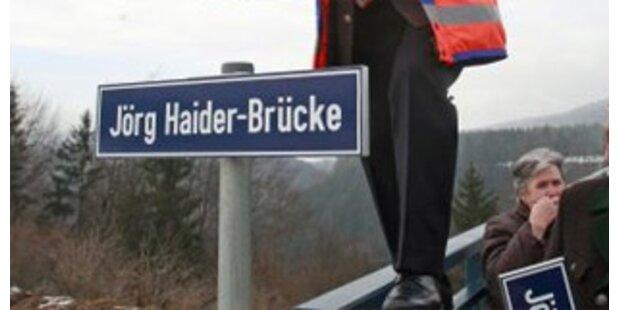 Namensschilder von Jörg-Haider-Brücke gestohlen