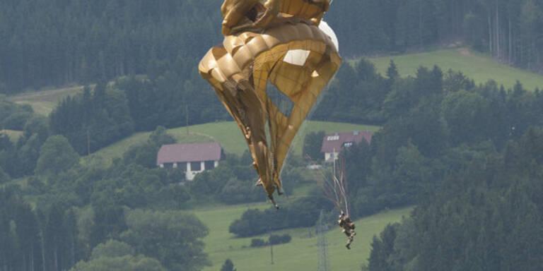 Fallschirmspringer außer Lebensgefahr