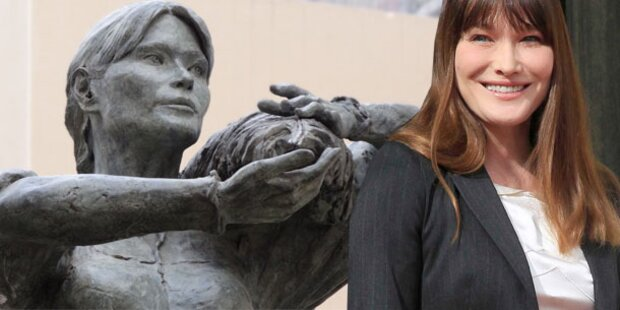 Carla Bruni-Statue sorgt für Ärger